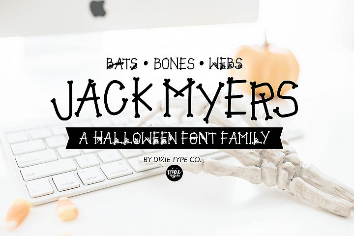 JACK MYERS a Halloween Font Family
