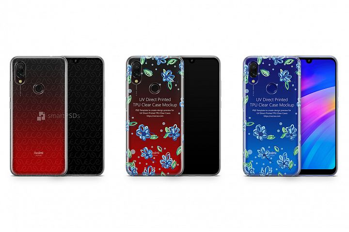 Redmi 7 UV TPU Clear Case Mockup 2019