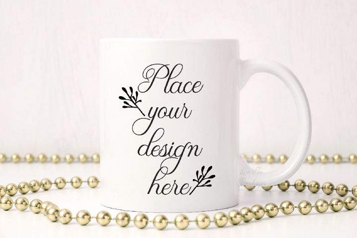 Party white coffee mug mock up sublimation 11oz cup mockup