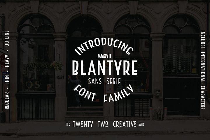 Blantyre - A New San Serif