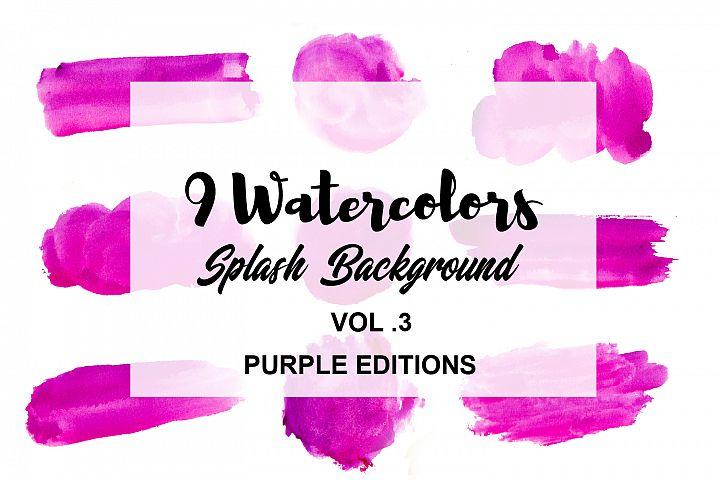 Watercolor Splash Background VOL.3 Purple Editions