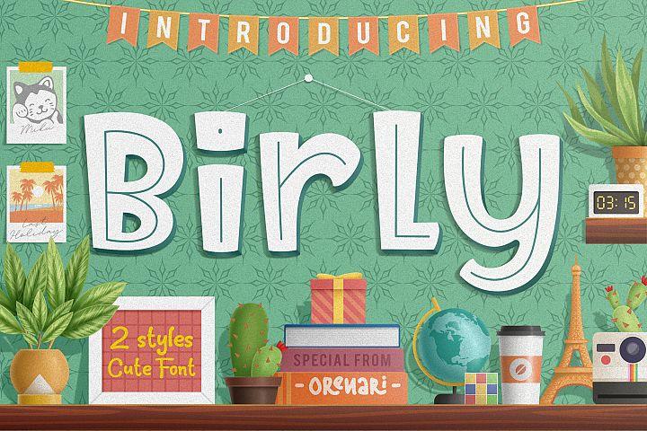 Birly | 2 Cute Font Style