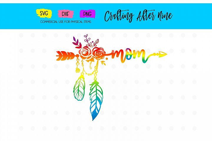 Rainbow Arrow Mom Svg, New Mom SVG, Pregnancy Announcement,