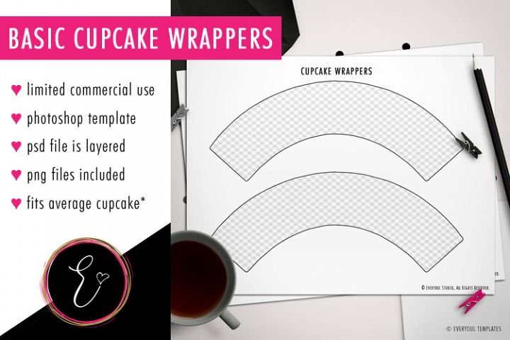 Design Your Own Basic Cupcake Wrappers