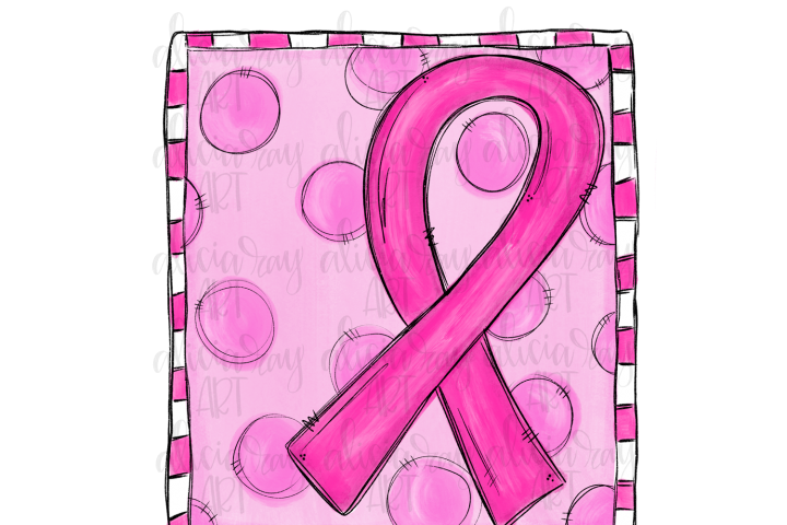 Breast Cancer Ribbon Sublimation PNG Digital Download