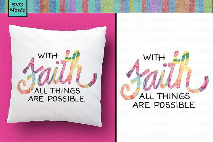 Sublimation Design PNG, Pastel Faith Saying for Sublimation