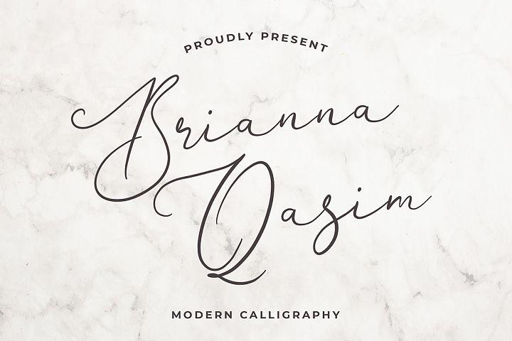 Brianna Qasim Calligraphy Font