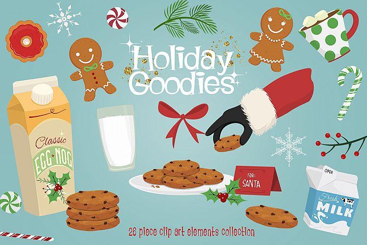 Holiday Goodies Cookies & Milk