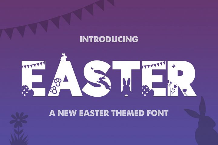 Easter Silhouette Font