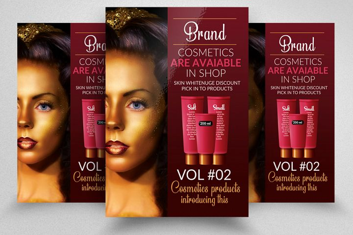 Cosmetic Product Flyer Template