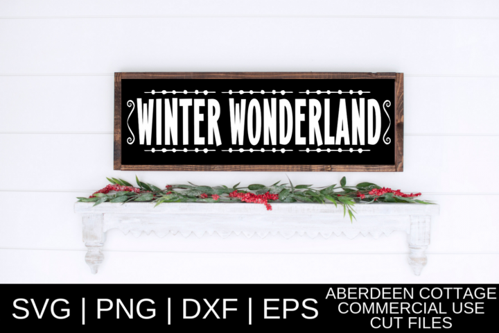 Winter Wonderland SVG Design