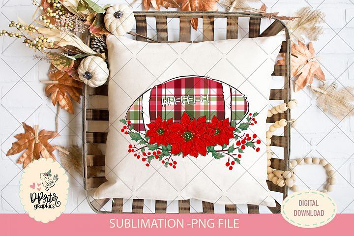Football christmas plaid sublimation png