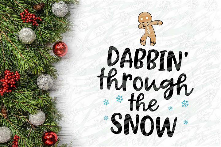 Dabbin Cookie through the snow Christmas Printable