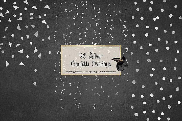 Silver Confetti Overlays