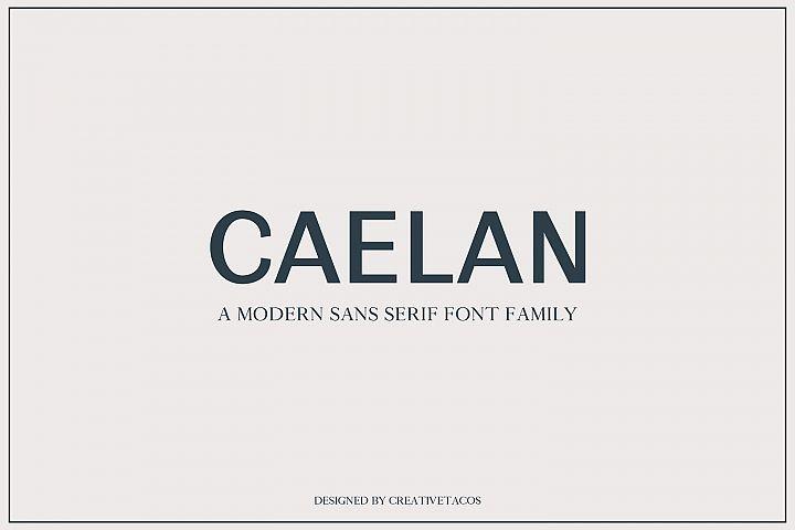 Calean Sans Serif Font Family Pack
