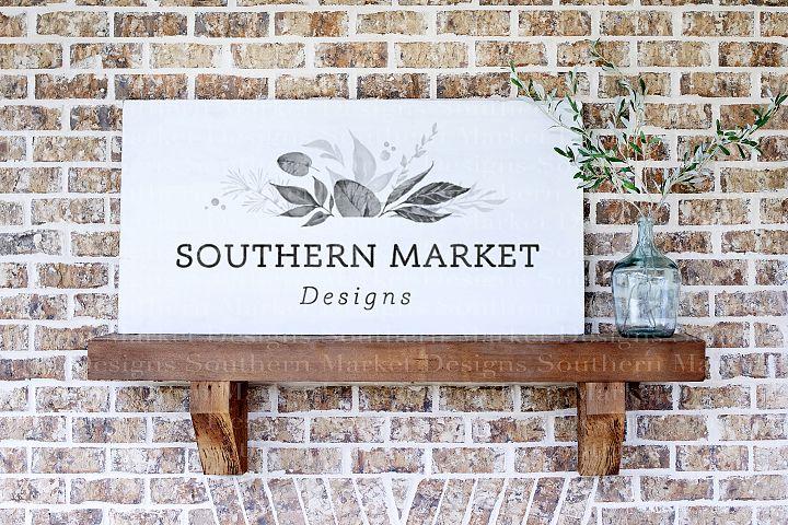 24x48 Horizontal Wood Sign Mock Up Farmhouse Styled Photo