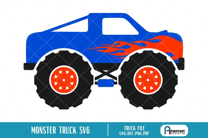 Monster Truck svg - a truck vector file