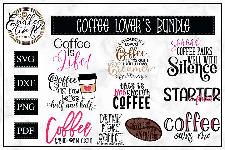 Coffee Bundle - 10 Funny Coffee Quotes for Coffee Lovers