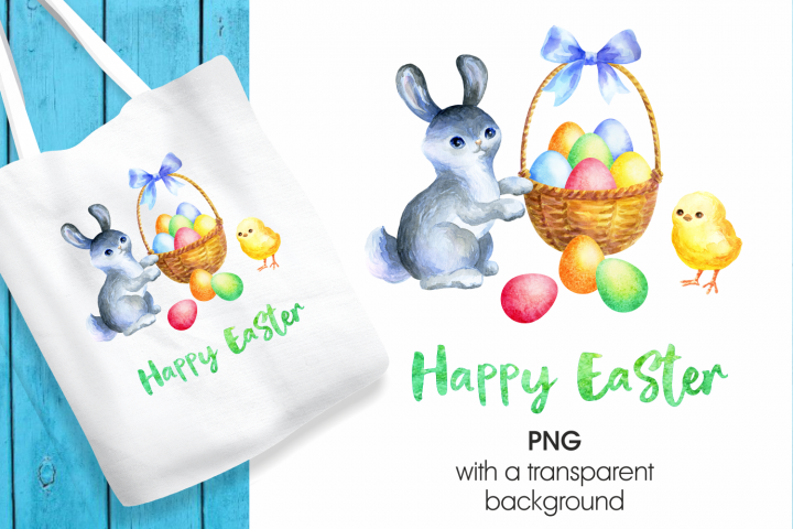 Happy Easter. Printable png