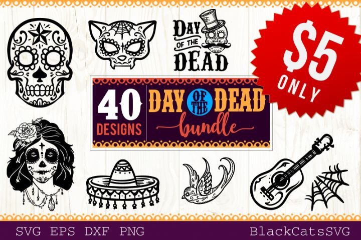 Day of the Dead SVG bundle 40 designs