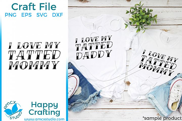 Tattoo Mom, Tattoo Dad 2 design bundle Quote Craft SVG