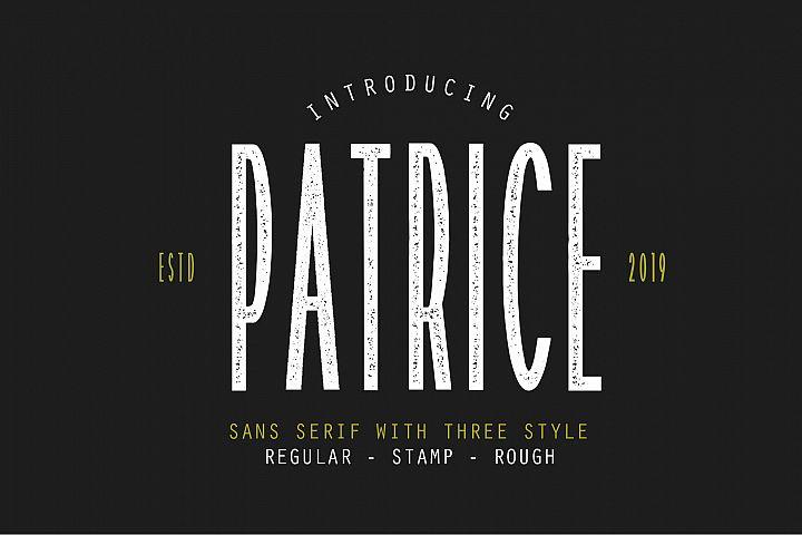 Patrice | Sans Serif Font