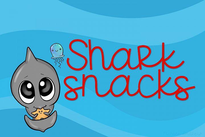 Shark Snacks - A Fun Script Font