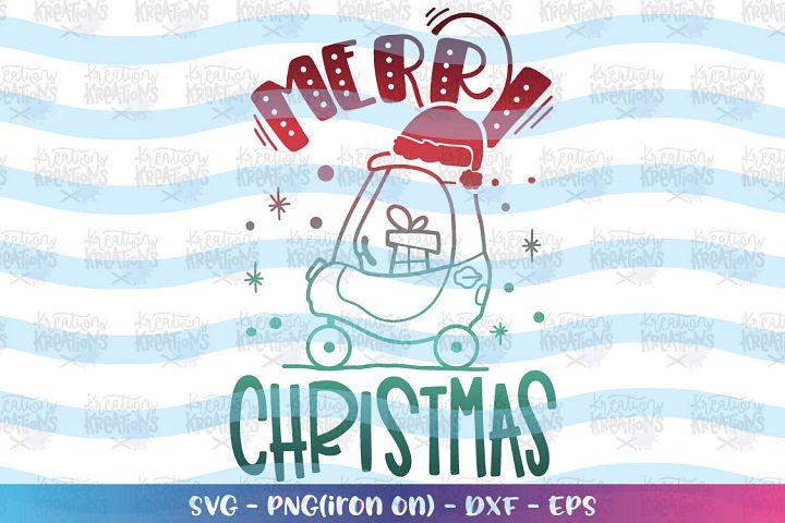 Christmas svg Push Car cute kids toddler Merry Christmas
