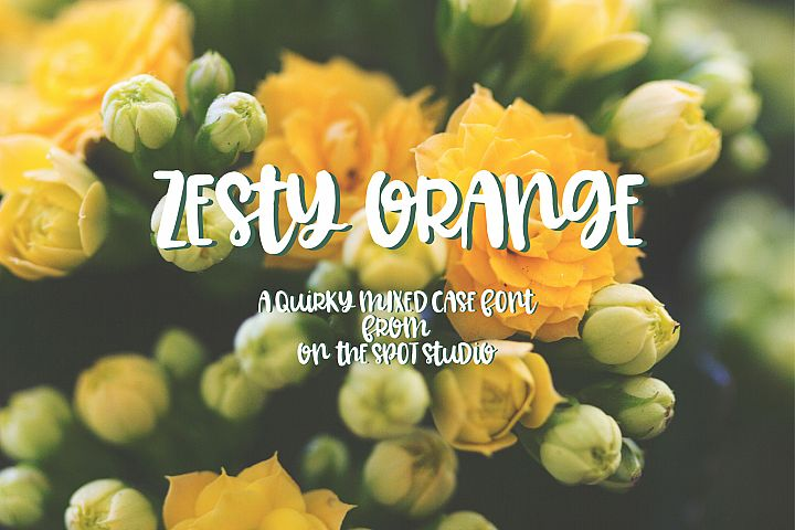 Zesty Orange - Free Font of The Week Font