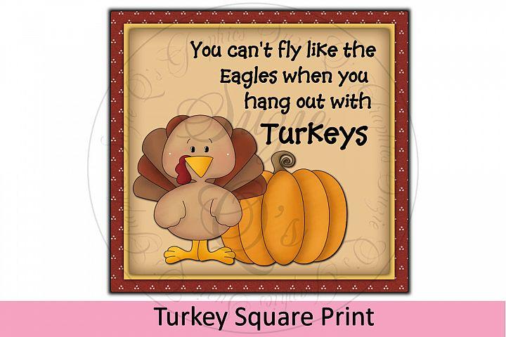 Turkey Square Print