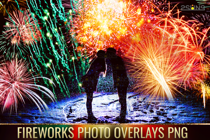 Holiday fireworks overlays christmas png sparkle photoshop