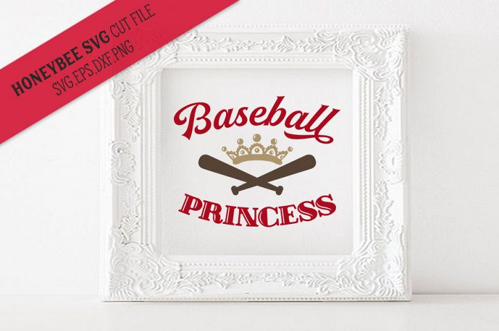 Baseball Princess SVG Cut File