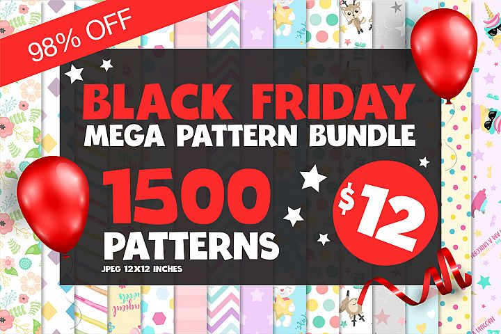 Black Friday MEGA Pattern Bundle - 98OFF