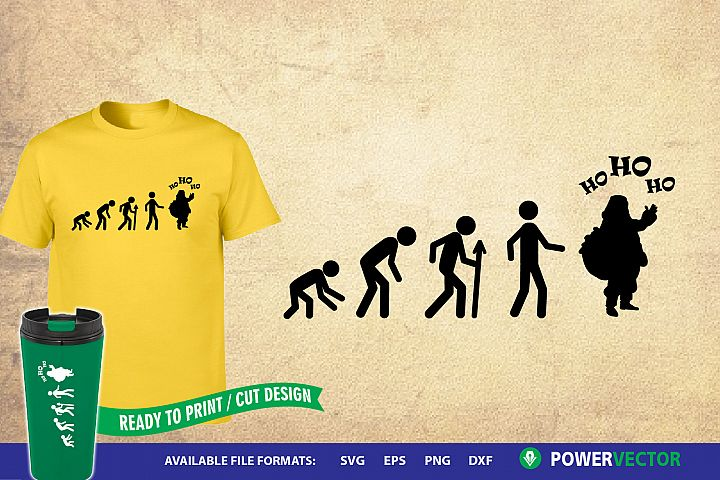 Santa Claus Evolution| Funny Christmas T Shirt Design