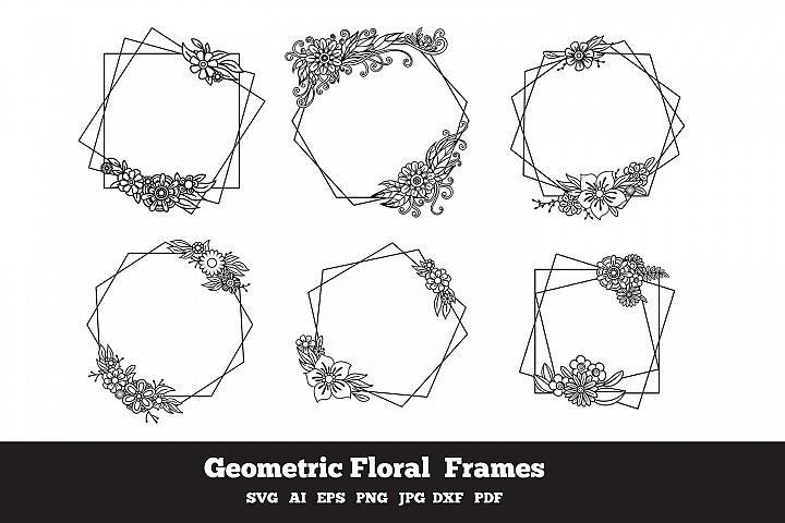 Geometric Floral Frames