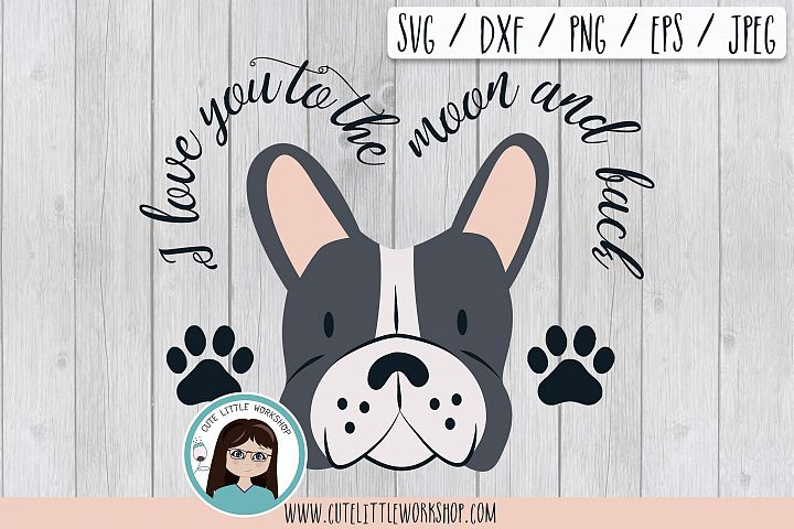 Boston terrier Grey svg, dxf, png, eps