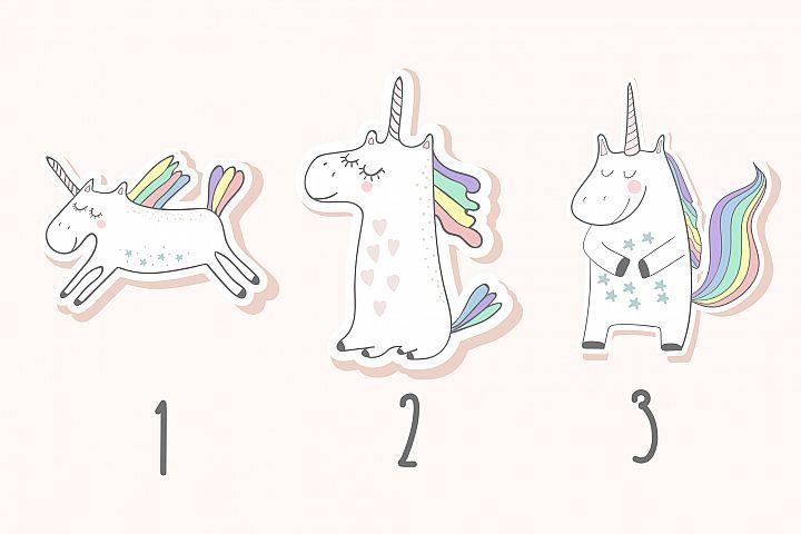 Unicorns set - Free Design of The Week Design 1
