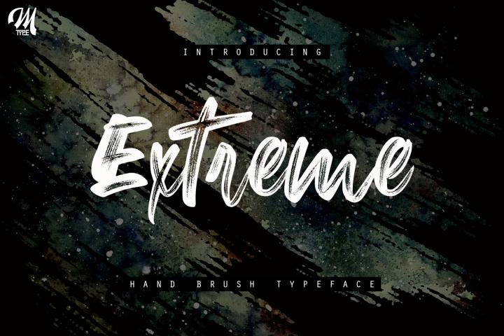 New Extreme Brush Font