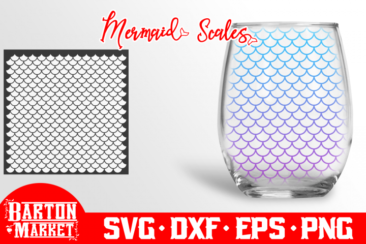 Mermaid Scales SVG DXF EPSPNG