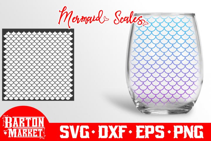 Mermaid Scales SVG DXF EPSPNG