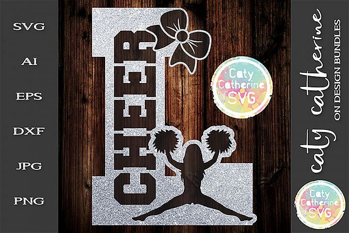 Letter L Cheerleading Monogram Letters SVG Cut File