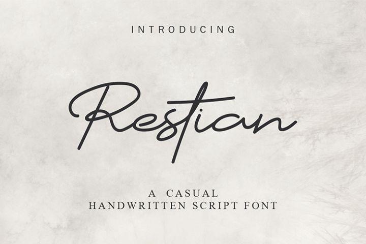 Restian Script Font