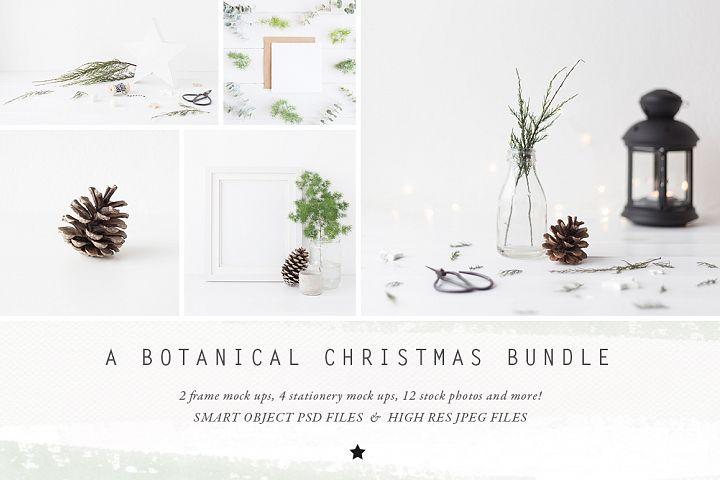 The Botanical Christmas Mockup Bundle