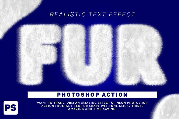 Wool Text Effect Photoshop Action