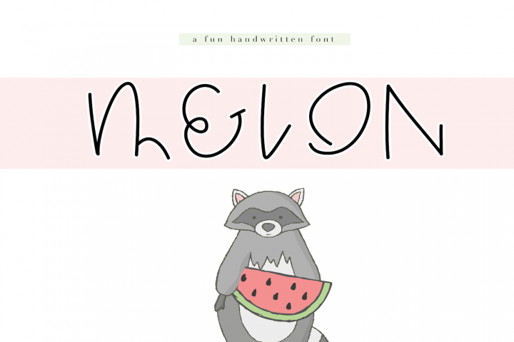 Melon - A Quirky Handwritten Font