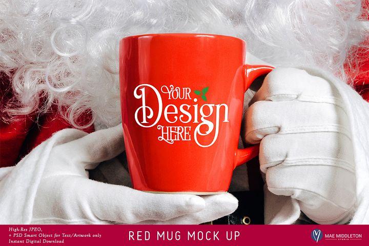 Christmas Mock Up - Santas Red Mug