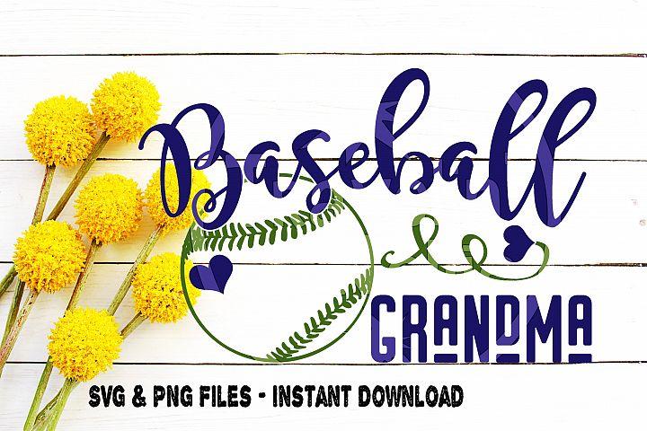 Baseball Grandma SVG Little League High School Team Spirit