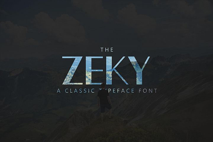 Zeky Typeface Font