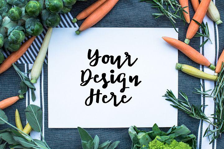 Vegetable mockup