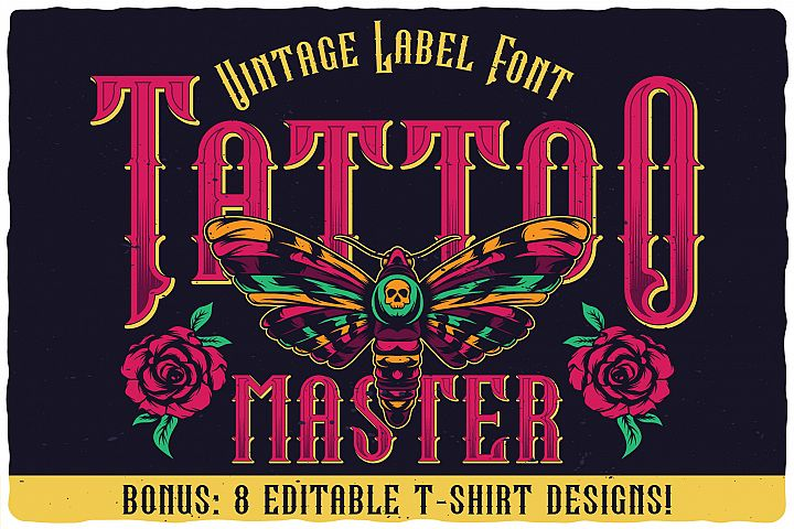 Tattoo Master. Font and graphics.